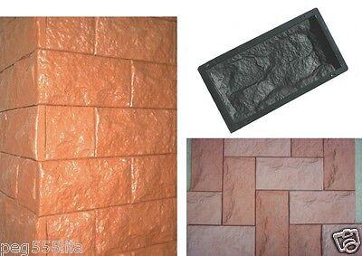 10 Giessformen Für Verblender-schieferstruktur 320/3 Für Beton Oder Gips Erfrischung Baustoffe & Holz Fassade