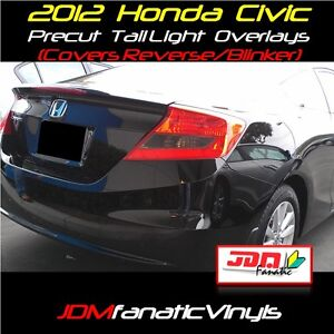 Civic Smoke Taillight Overlays Blinker Signal Smoked TI