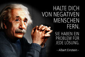 Albert-Einstein-Spruch-51-Blechschild-Schild-gewoelbt-Tin-Sign-20-x-30-cm-R0775
