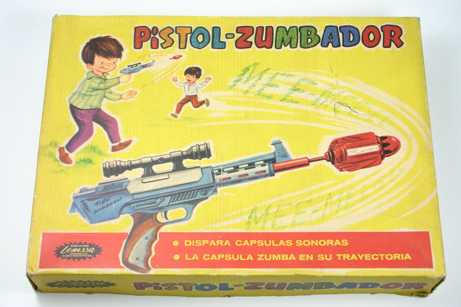 Vintage 1965 rare toy space gun Screaming Mee E Remco Pistol from LEMSSA Spain