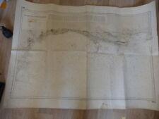 carte hydrographique  de la marine de start point au cheval des needles (car01)