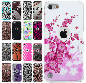 iPod-Touch-6-6th-Gen-Rubber-IMPACT-TUFF-HYBRID-Skin-Case-Phone-Cover-Accessory