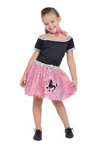 HonnêTe Rock N Roll Robe Sequin Rose 128 Cm, 50 S, Filles (ou Garçons!) Fancy Dress-afficher Le Titre D'origine