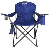 Coleman Camping - Lawn Chair W/built-in Cooler And Cup Holder, Blue | 2000020266 on sale