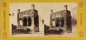 Italia c1865 Foto Sommer Napoli Stereo Vintage Albumina
