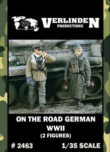 Verlinden-1-35-WWII-On-The-Road-German-2-Resin-Figures-Kit-2463