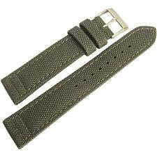 22mm Hadley-Roma MS850 Mens Grey Cordura Canvas Watch Band Strap