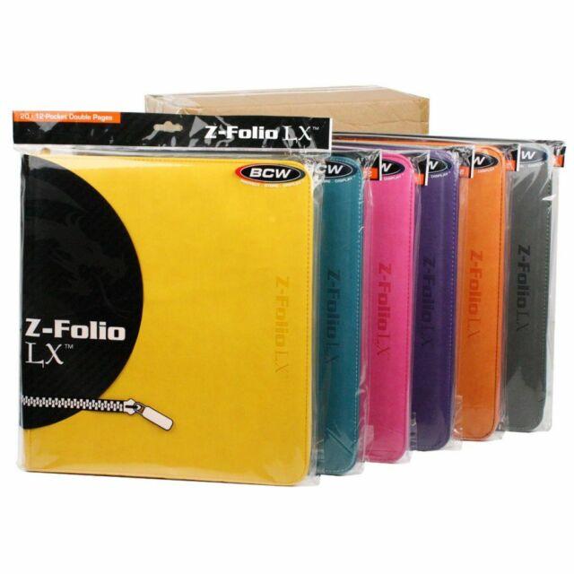 8 Set Colored BCW Z Folio Premium Binders 12 Pocket 480