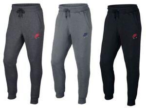 Detalles de Nike Hombre Pitillo Pantalones Deportivos de Chándal  Gris,Carbón y Negro