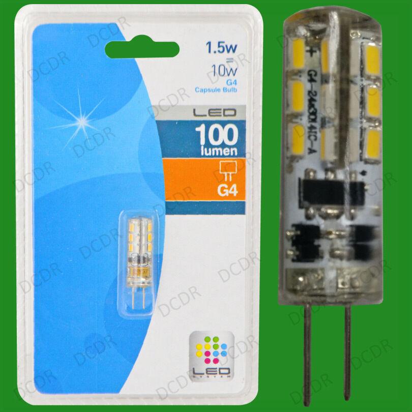 Cápsula 100x 1.5W G4 12V LED Bombilla Ultra bajo consumo de energía, Reemplazo De Halógeno