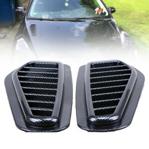 Universal-Race-Car-Accessory-Hood-Scoop-Carbon-Style-Bonnet-Air-Vent-Decorative