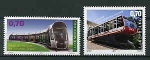Luxembourg-2017-neuf-sans-charniere-Tramway-amp-funiculaire-Pfaffenthal-Kirchberg-2-V-SET-STAMPS