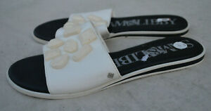 Sam & Libby White Jewels Women's Slide Sandals Size 10