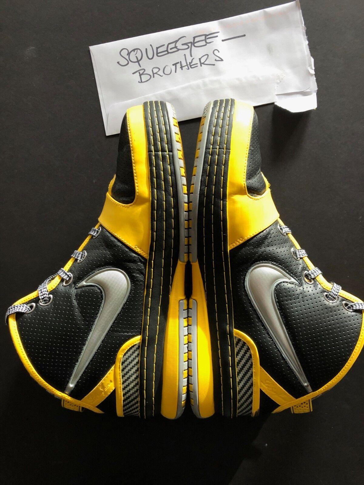 Nike Zoom LeBron 6 VI Taxi 346526-004 Black Grey Size 11.5