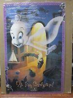 Vintage 1995 Casper The Friendly Ghost Poster hi I'm Casper Movie 12395