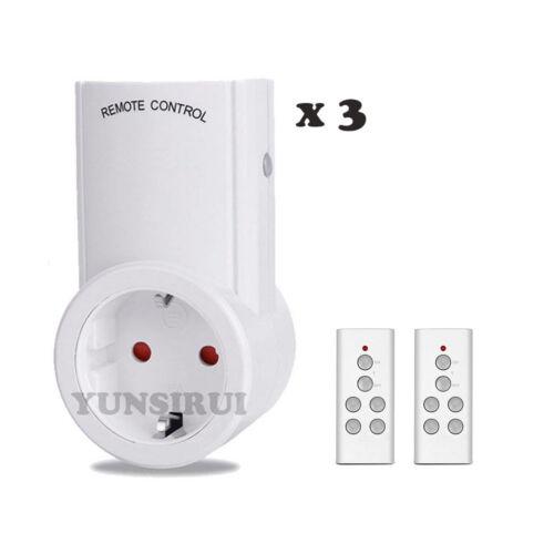 Smart 433Mhz Funk Ein-//Ausschalter Funksteckdosen EU Socket mit Fernbedienung