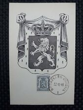 BELGIEN MK 1945 WAPPENLÖWE 1940 MAXIMUMKARTE CARTE MAXIMUM CARD MC CM a6660