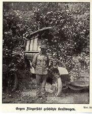 1915 * Gegen Fliegersicht getarnte österreichische Kraftwagen * WW1