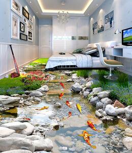 Image Is Loading Fish Stone Stream Floor Decals Wallpaper Murals