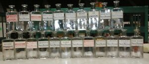 22-Antique-Labeled-Pharmacy-Drugstore-Cork-top-bottles-Superior-WI
