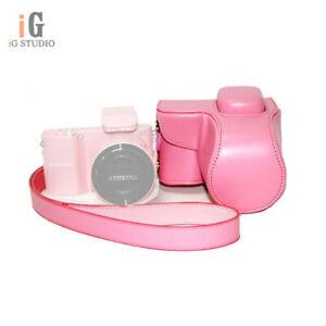 Protective-PU-Leather-Case-Camera-Bag-for-Samsung-NX1000-Digital-Camera-w-Strap