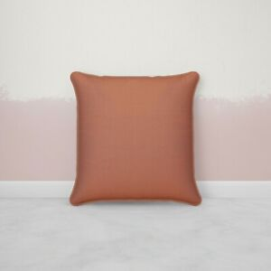 Details about Decorative Rust Cushion Cover With Piping Throw Pillow Case 18x18