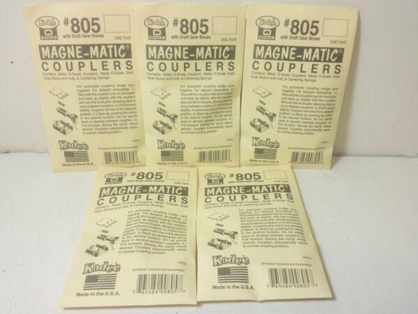 5 Paquets Kadee O Échelle #805 Standard Jauge Noir Métal Coupleurs Modèle Chemin Approvisionnement Suffisant
