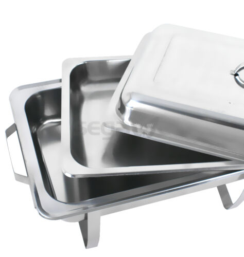 FULL SIZE 8 QT BUFFET CATERING STAINLESS STEEL 6 PACK CHAFER CHAFING DISH SETS