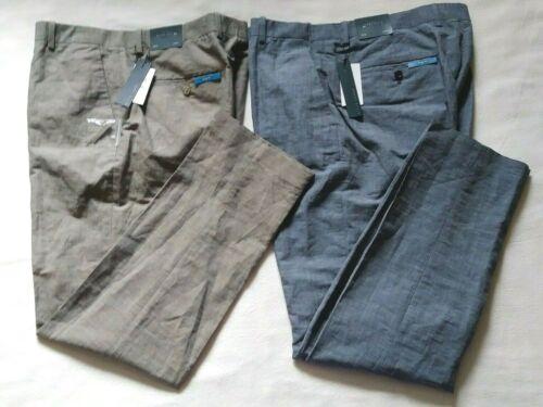 Perry Ellis Men/'s Slim Fit Dress Pants Linen//Cotton Size 30x30 32x32 36x32