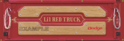 DODGE LIL RED EXPRESS TRUCK TAILGATE PRINTED BANNER SIGN SHOP ART MURAL 2/' X 6/'