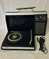 Philips 423,Plattenspieler,Kofferplattenspieler,schwarz,Batterie u. Netzbetrieb