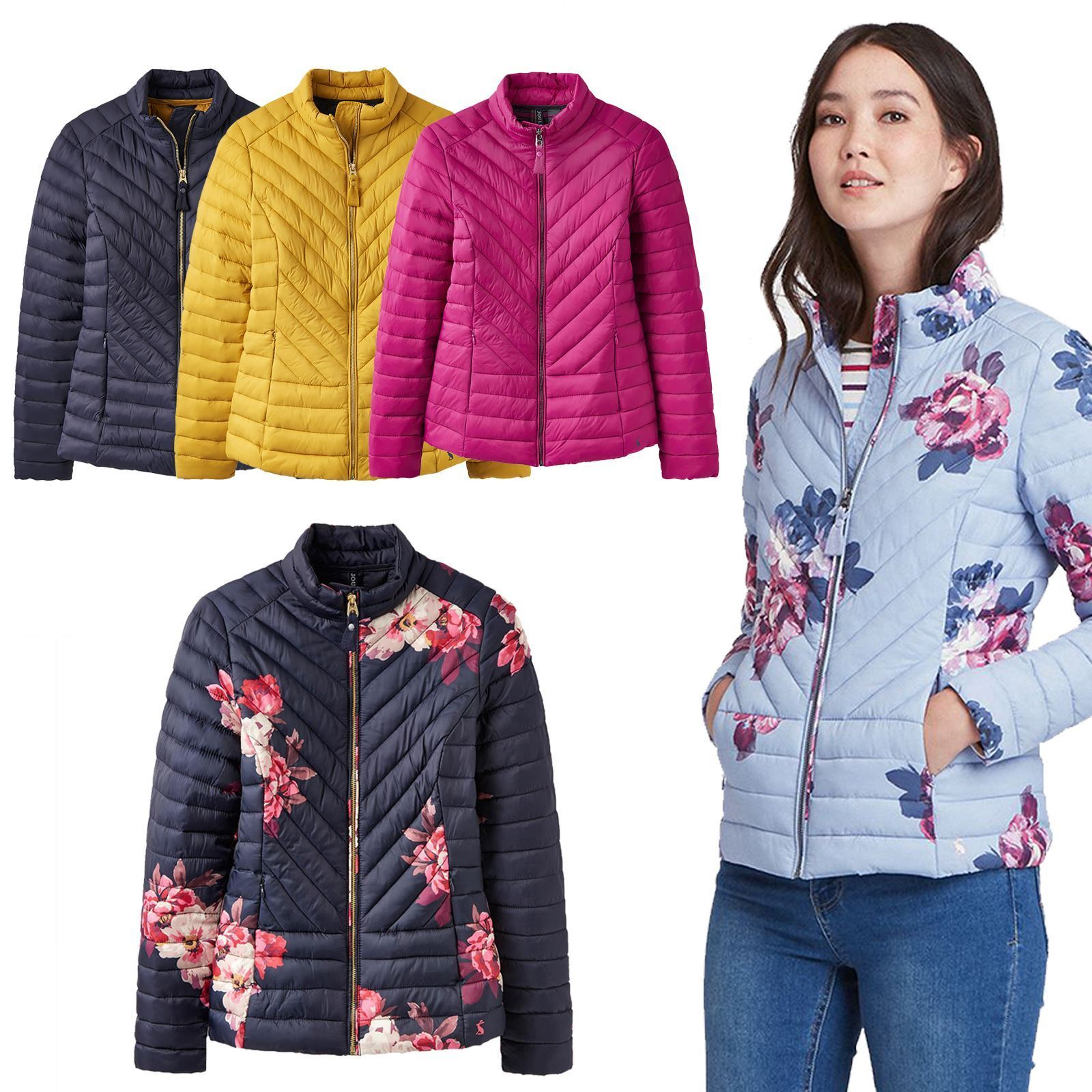 Joules Elodie Laides Equitazione Inverno Zig Zag Quilted Equitazione Giacca caldo