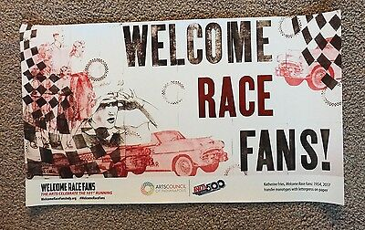 2017 101st Running Indianapolis 500 Poster Firestone Indy Car Kiss The Bricks