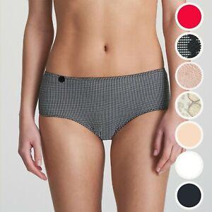 Marie-Jo-L-039-Aventure-Tom-Short-Pearled-Ivory-Check-Schwarz-Patine-Haut-Rot-Panty