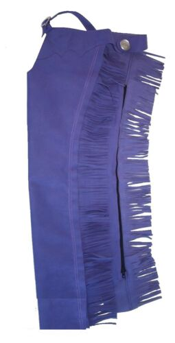 Borraq Purple Western Ammara Suede Long Chaps with Frill