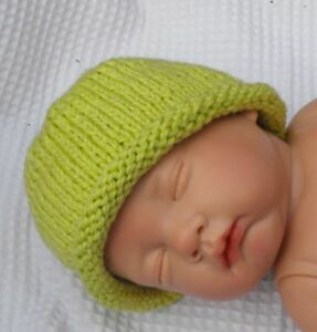 Image is loading PRINTED-KNITTING-INSTRUCTIONS-BABY-ROLL-BRIM-BEANIE-HAT- b495e8f37b6