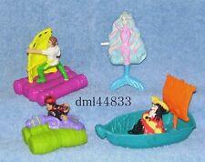 1991 McDonalds Hook (Peter Pan) Complete Set - Lot of 4, Boys & Girls, 3+