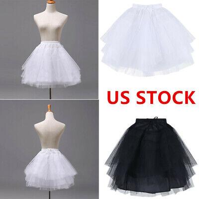 YiZYiF Flower Girls 3 Layers Hoopless Petticoat Crinoline Half Slips Pageant Party Wedding Dress Underskirt