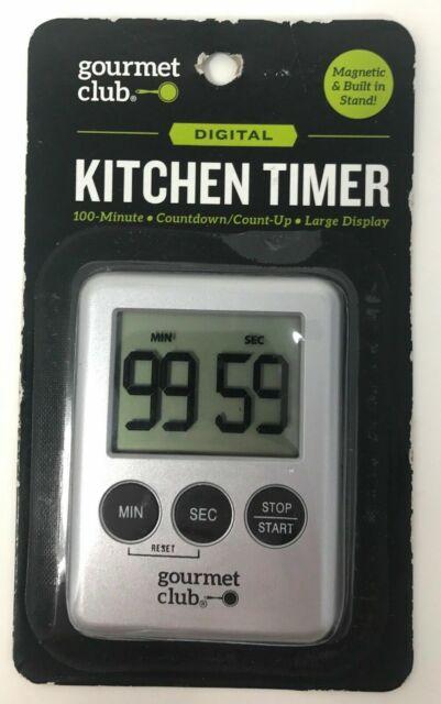 Digital Kitchen Timer Gourmet Club 100 Minute Large Display