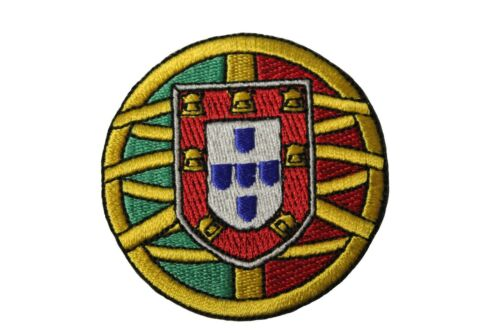 """PORTUGAL Country Flag Logo Iron On PATCH Crest Badge SMALL Round 2.4/""""Inch 6 Cm"""