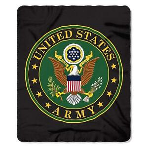 United-States-Army-Armed-Forces-US-Emblem-Logo-Green-Fleece-Throw-Blanket-NEW