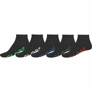 Globe-Socks-5-Pack-Stealth-Ankle-Black-Size-12-15-Skateboard-Sox-New