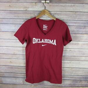 OKLAHOMA-SOONERS-Women-039-s-The-Nike-Tee-Athletic-Cut-Shirt-S-Small