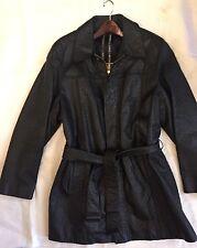 $33K Auth *ZILLI* Black Ostrich Leather Jacket Coat EXOTIC Rare Silk 52L PARIS