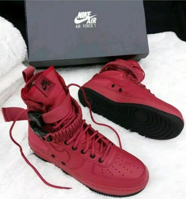Nike WMNS SF Af1 Special Field Red Cedar Air Force 1 Women Shoes 857872 600 8