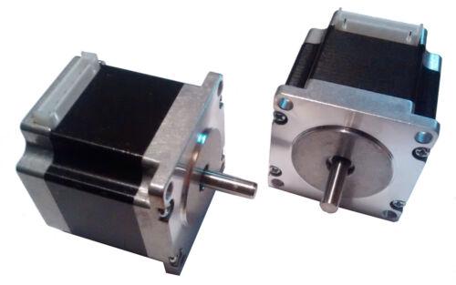 3D Stampante NEMA23 a Passo Motors 6.35mm Albero Reprap /& CNC 1.8 Gradi