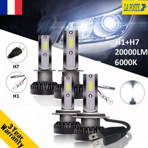 H1-amp-H7-110W-20000LM-CREE-LED-Ampoule-Voiture-Feux-Lampe-Kit-Phare-Xenon-6000K