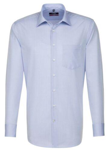 Uomo Seidensticker moderno Camicia a maniche lunghe-Blu chiaro