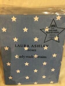 Laura-Ashley-039-Kids-039-Stars-Blackout-Curtains-53-034-W-x-54-L-135cm-x-137cm-BLUE