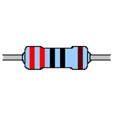 Metallschicht-Widerstand 360 Ohm 1/% 0,6W Bauform 0207 gegurtet